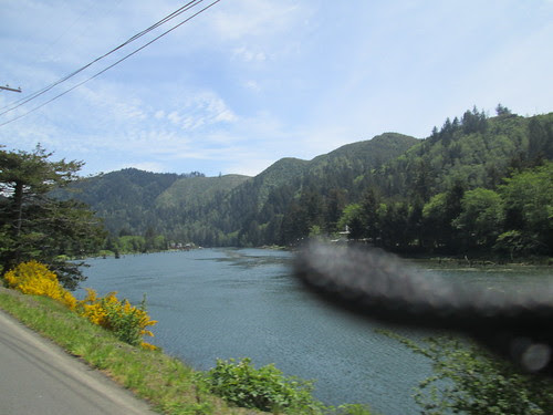 Siletz River with camera strap