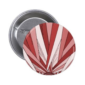 Colorized Red Sunrise Pinback Button