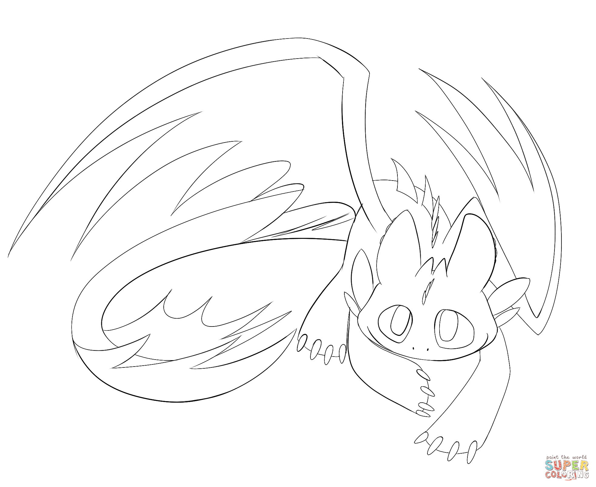 Klick das Bild Niedlicher Nachtschatten Drachen