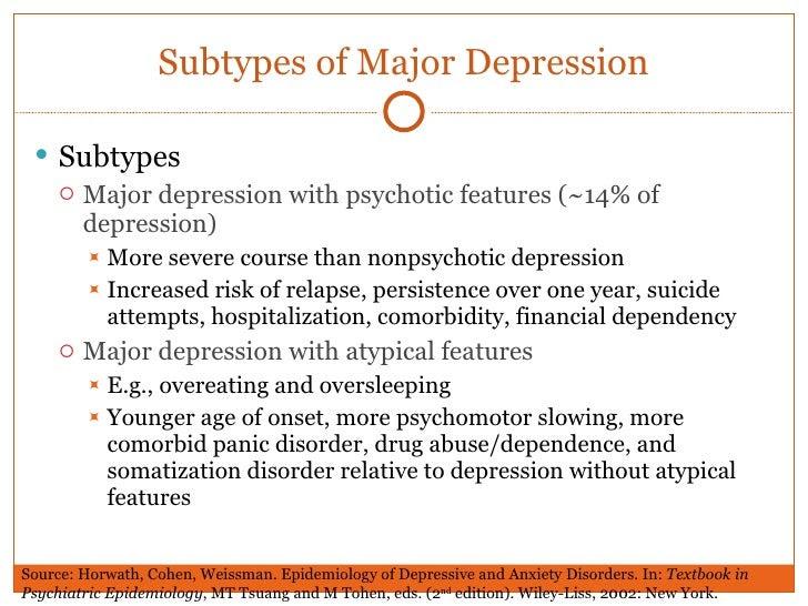 Unit 6 epidemiology depression and suicide
