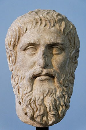 Plato. Luni marble, copy of the portrait made ...