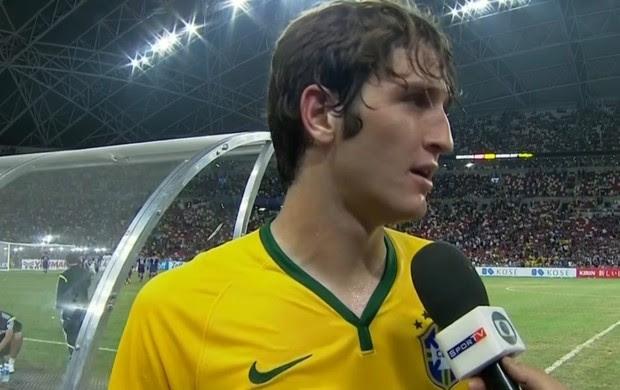 Mário Fernandes, lateral da seleção brasileira (Foto: Reprodução SporTV)