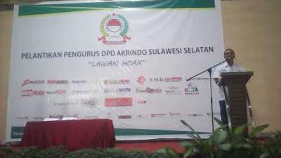 Acara Pelantikan DPD Akrindo Sulawesi selatan
