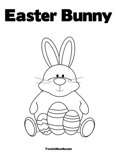 easter bunny coloring book pictures. Print Your Coloring Page
