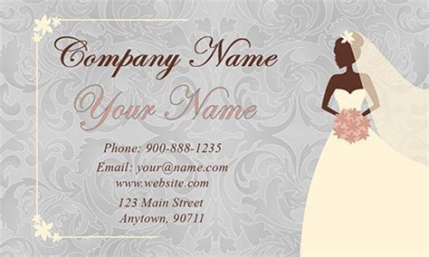 Glitter Wedding Event Coordinator Business Card   Design