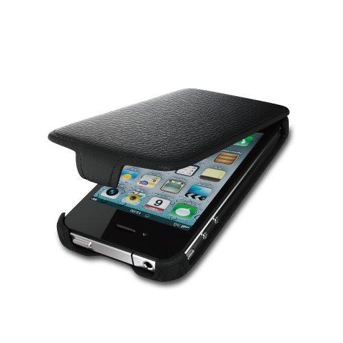 iBUFFALO iPhone4S 『お財布ケータイに早変わり』ICカード対応レザーケース(ブラック) BSIP11PCLBK