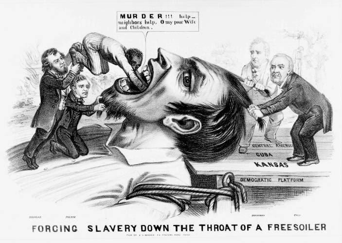 The situation became violent after the Kansas-Nebraska Act,