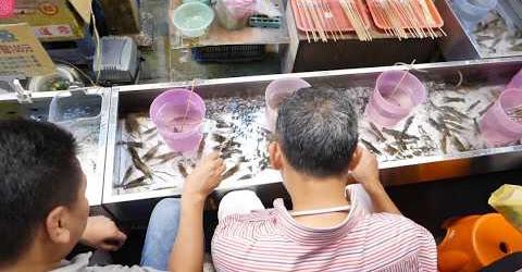 Câu tôm | Món ăn đường phố hấp dẫn ở Đài Bắc Taipei streetfood
