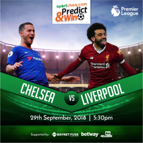 SPORTS : Sportcheq.com Predict & Win Game. Liverpool Vs Chelsea