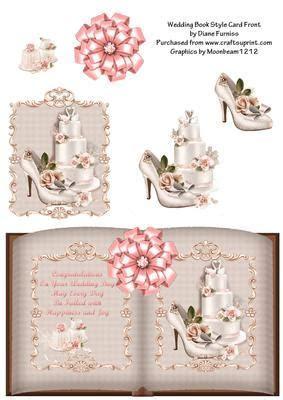 Wedding Book Style Card   CUP533621 174   Craftsuprint