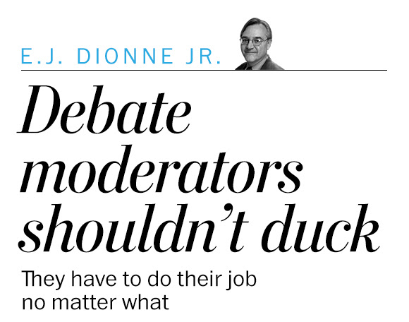 Debate moderators shouldn't duck