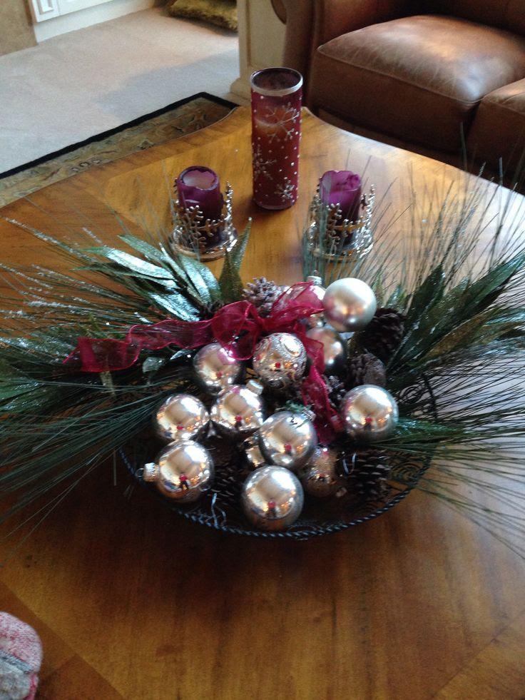 Christmas Coffee Table Decor Photograph | Christmas Coffee T