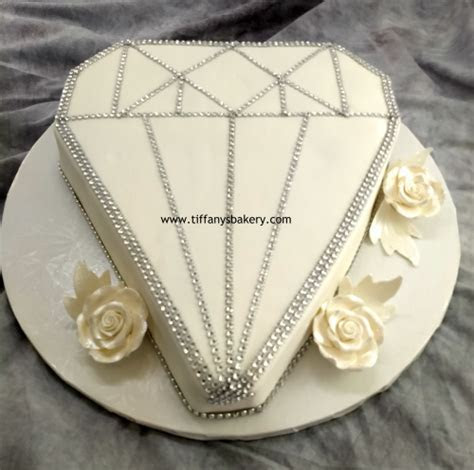 Diamond Shape Cutout Cake ? Tiffany's Bakery