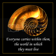Everyone carries within them, the world in which they must live