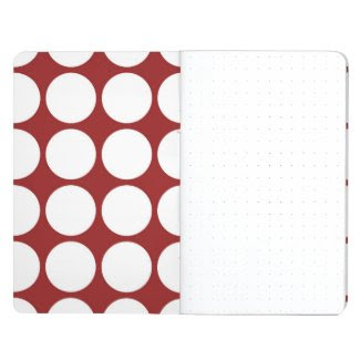White Polka Dots on Red Journals