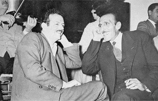 Ο Γιάννης Παπαϊωάννου με τον Βασίλη Τσιτσάνη