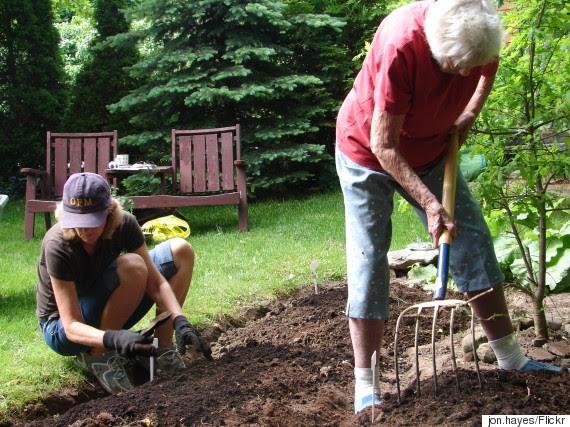 gardening with mom