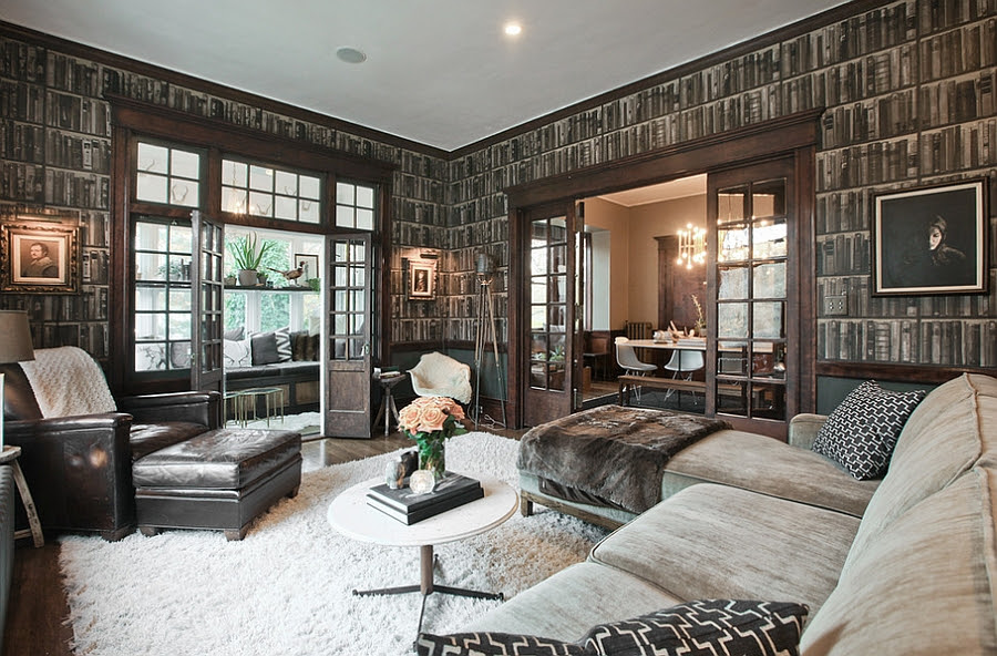 Masculine living room ideas wiith a touch of soft coziness
