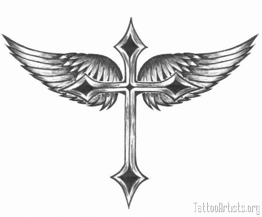 Winged Cross Tattoo Artists Picture Tattoomagz