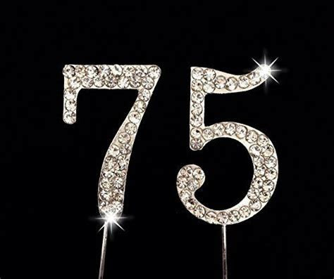 75th Birthday / Wedding Anniversary Number Cake Topper
