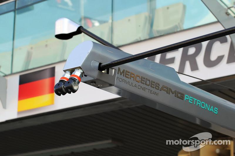 Mercedes AMG F1 pit stop equipment at Abu Dhabi GP