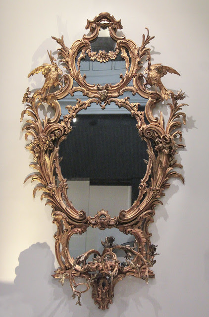 Mirror, about 1762-5, based on a design by Thomas Chippendale (1718-79), England