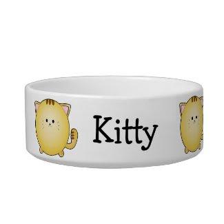 Custom Kawaii Cartoon Cat Pet Bowl petbowl