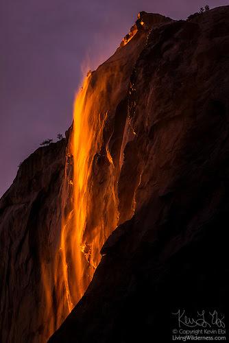 Horsetail Fall at Sunset, Yosemite National Park, California