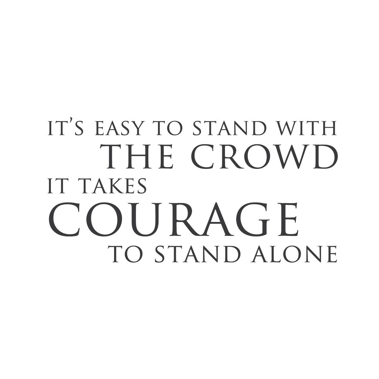 Alone In A Crowd Quotes Traffic Club