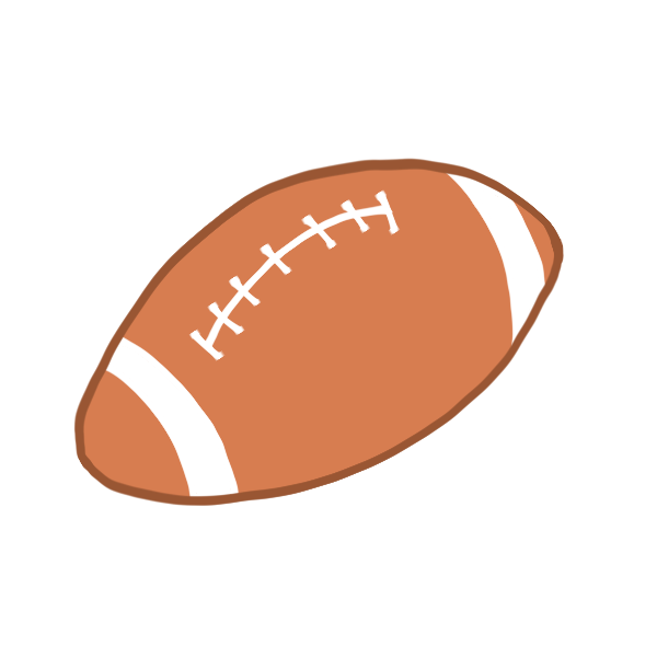 ラグビーボールのイラスト かわいいフリー素材が無料のイラストレイン