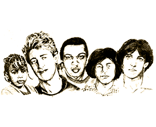 illustration of different people's portraits