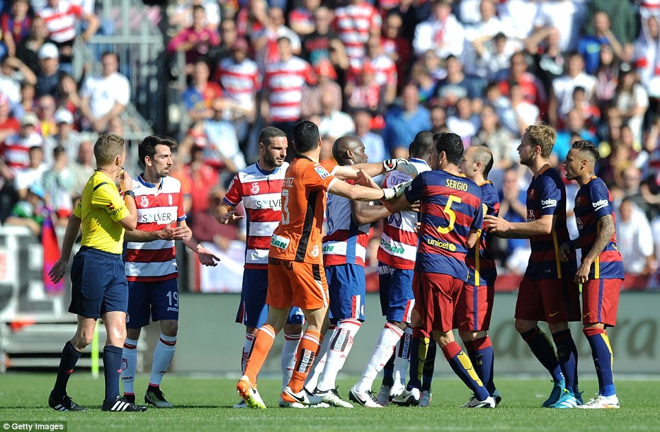 Tempers flared towards the end of the 90 minutes on Saturday as Granada struggled to work their way back into the game