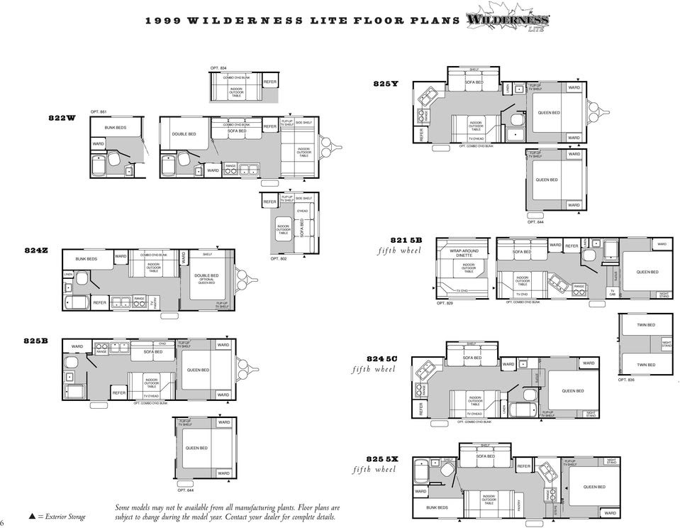 1999 Wilderness Travel Trailer Floor Plan