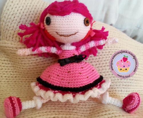 Lalaloopsy Toffee Cocoa Cuddles doll amigurumi-11