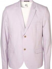 Topman Lilac Oxford Skinny Blazer