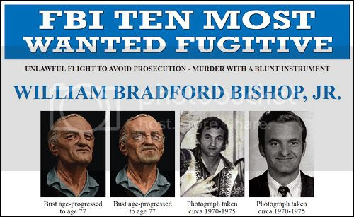 William Bradford Bishop Added to FBI Top Ten List