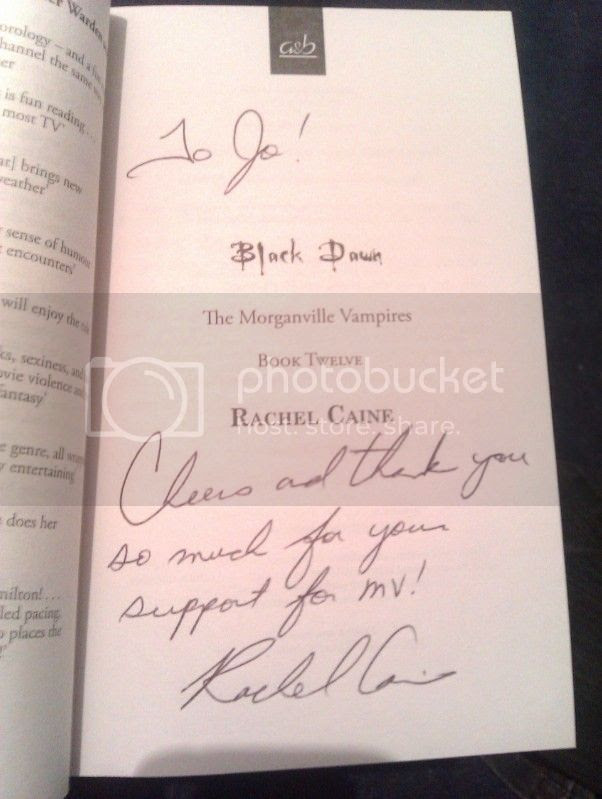 signed black dawn by rachel caine
