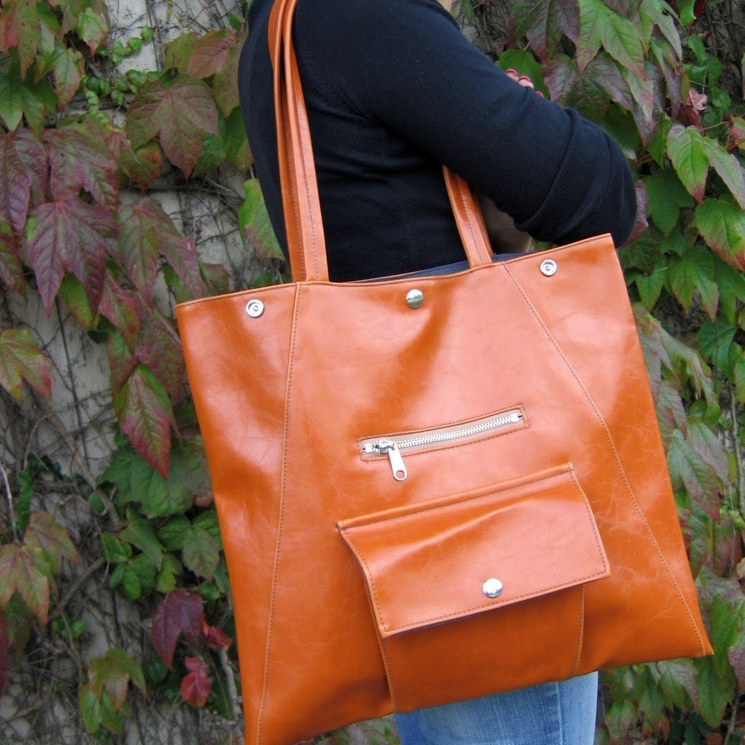Orange Metier Tote - Work Bag