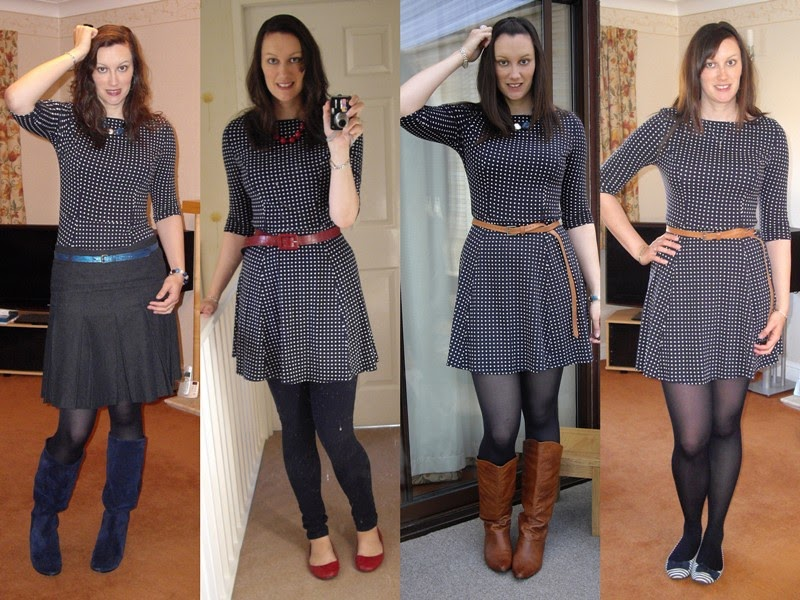 Shoegal Uk High Street Style Blog Tall Fashion Leeds Style Blogger Remix Navy Polka Dot