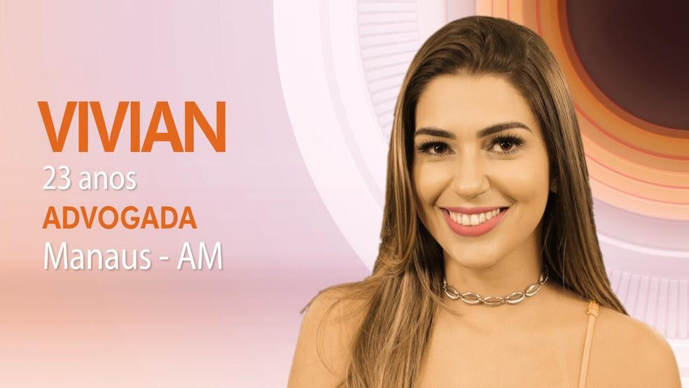 """Vivian, primeira participante do """"BBB17"""" (Foto: Globo/Divulgação)"""