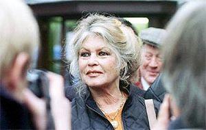 Brigitte Bardot lors d'un passage à Nice