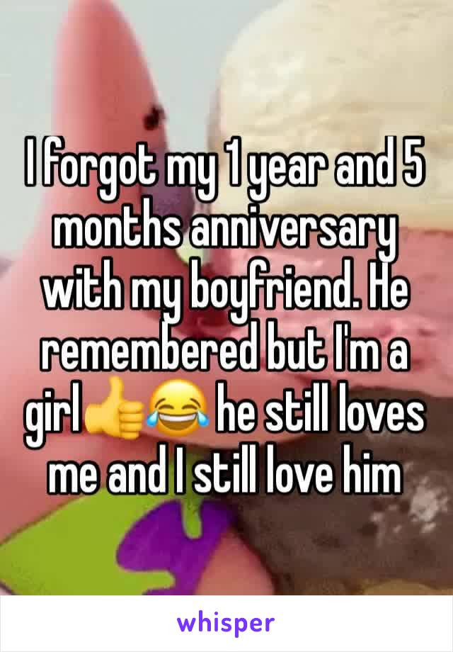 I Forgot My 1 Year And 5 Months Anniversary With My Boyfriend He