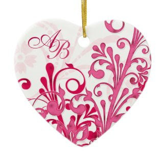 First Christmas Together Wedding Heart Ornament ornament