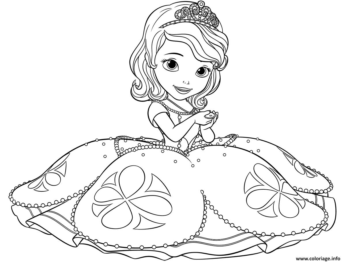 Coloriage Princesse Sofia Dessin  Imprimer
