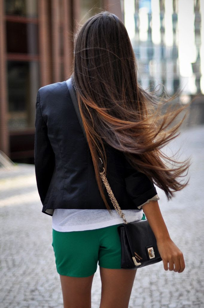 Le Fashion Blog 7 Dark Ombre Hair Looks Inspiration Via Intrigue Me Now Balayage Long Straight Haircut Lighter Tips Black Blazer Chin Strap Bag Green Shorts 5 photo Le-Fashion-Blog-7-Dark-Ombre-Hair-Looks-Inspiration-Long-Hair-Via-Intrigue-Me-Now-5.jpg
