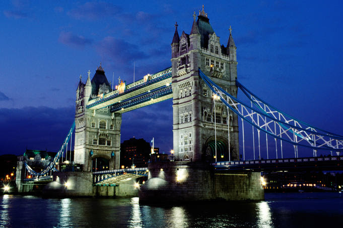 Tower Bridge as well as the River Thames at nighttime  Awesome Travel: Top 10 Cities for 2012