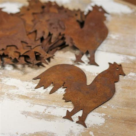 Rusty Tin Rooster Cutouts   Basic Craft Supplies   Craft