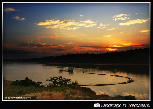 sunset at tanjung aur picture
