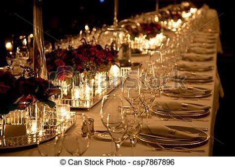 Elegant table setting. Elegant candlelight dinner table