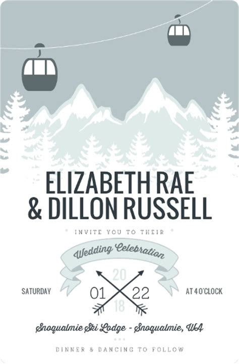 winter wedding invitation wording winter wonderland